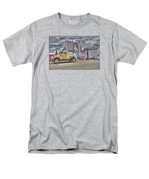 Old Time Gas Station Men's T-Shirt  (Regular Fit) by Shelly Gunderson