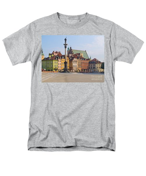 Old Town Square Zamkowy Plac In Warsaw Men's T-Shirt  (Regular Fit) by Anastasy Yarmolovich