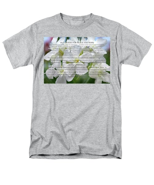 Oleanders For Peace And Hope Men's T-Shirt  (Regular Fit) by Wilhelm Hufnagl