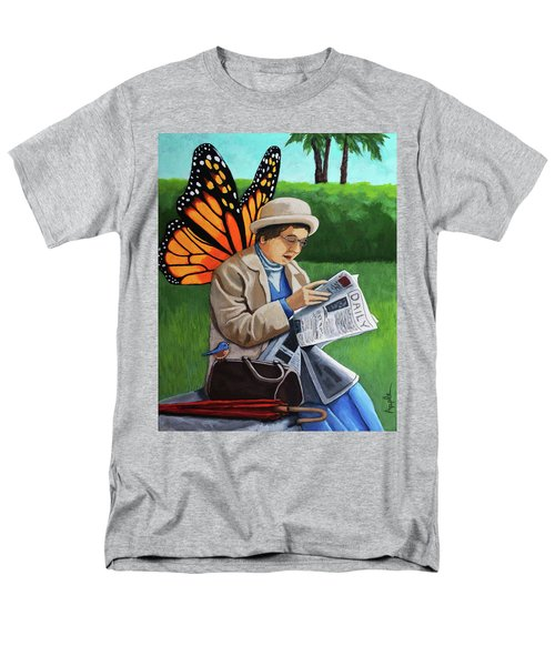 On Vacation -butterfly Angel Painting Men's T-Shirt  (Regular Fit) by Linda Apple