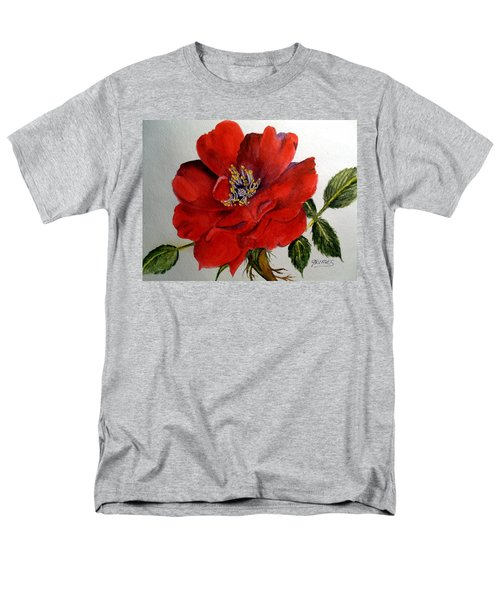 One Lone Wild Rose Men's T-Shirt  (Regular Fit) by Carol Grimes