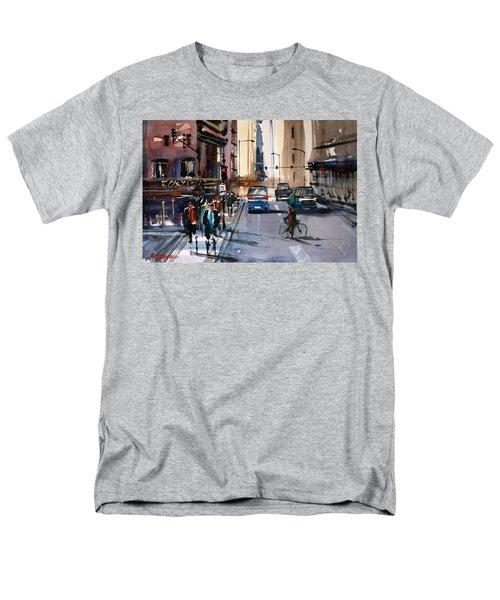 One Way Street - Chicago Men's T-Shirt  (Regular Fit) by Ryan Radke