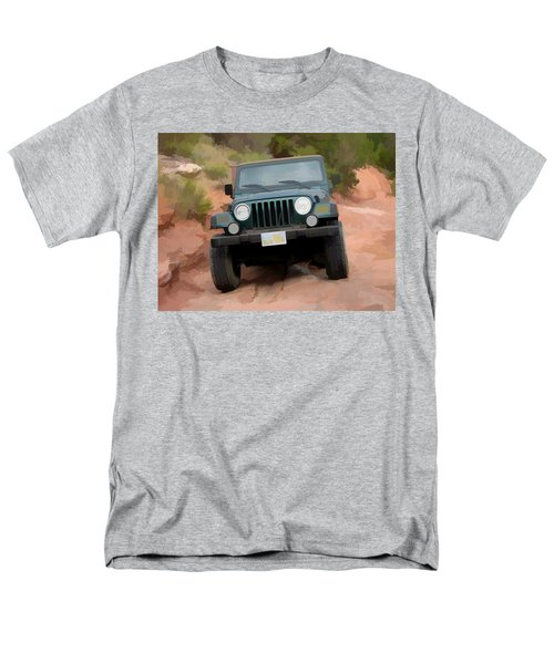 Men's T-Shirt  (Regular Fit) featuring the digital art Only Jeeps Here by Gary Baird