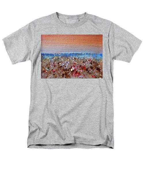 Opal Beach Men's T-Shirt  (Regular Fit) by Regina Valluzzi