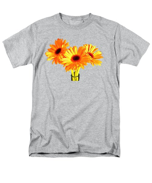 Orange Gerbera's Men's T-Shirt  (Regular Fit) by Scott Carruthers