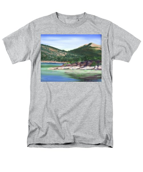 Osprey Island Flaming Gorge Men's T-Shirt  (Regular Fit) by Jane Autry