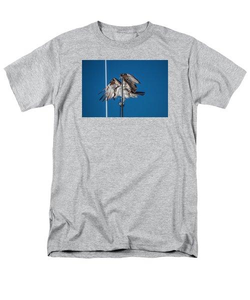 Osprey On The Boat Rod Men's T-Shirt  (Regular Fit) by Dorothy Cunningham