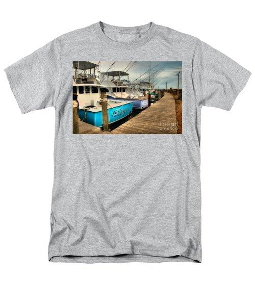 Outer Banks Fishing Boats Waiting Men's T-Shirt  (Regular Fit) by Dan Carmichael