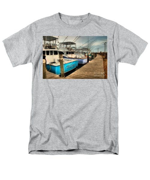 Outer Banks Fishing Boats Waiting Men's T-Shirt  (Regular Fit)