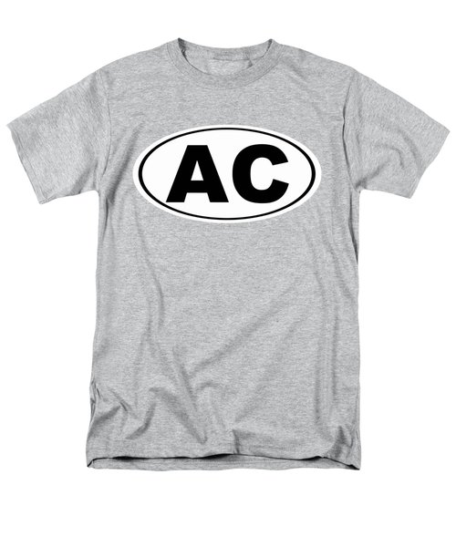 Men's T-Shirt  (Regular Fit) featuring the photograph Oval Ac Atlantic City New Jersey Home Pride by Keith Webber Jr