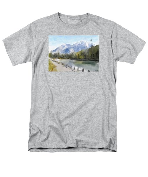 Men's T-Shirt  (Regular Fit) featuring the painting Over The Mountains by Wayne Pascall