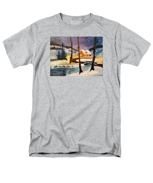 Over The River Men's T-Shirt  (Regular Fit) by Larry Hamilton