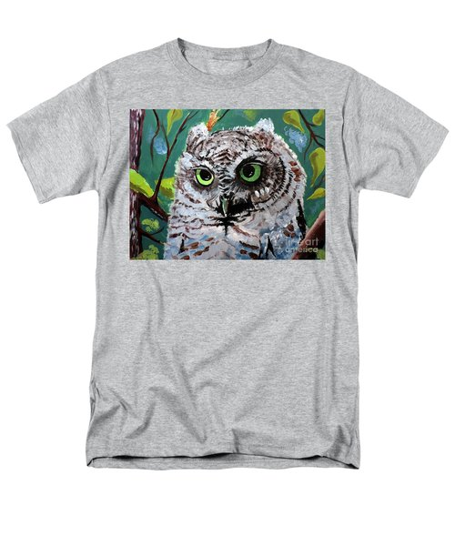 Men's T-Shirt  (Regular Fit) featuring the painting Owl Be Seeing You by Tom Riggs