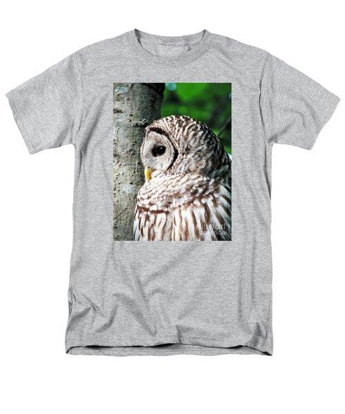 Owl Profile Men's T-Shirt  (Regular Fit) by Christy Ricafrente