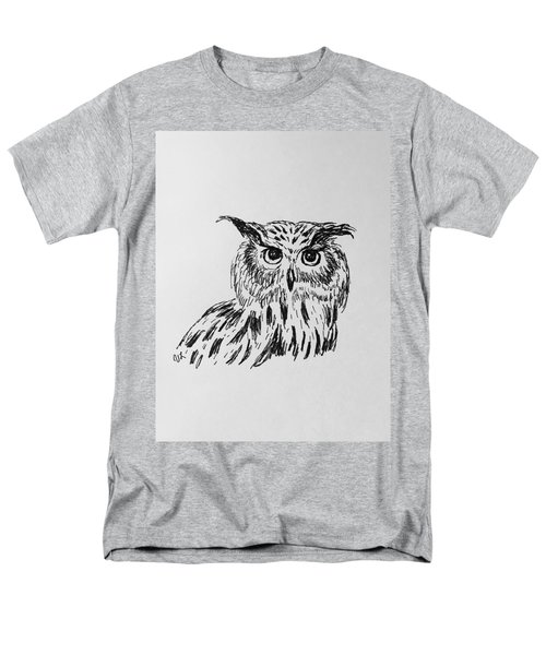 Owl Study 2 Men's T-Shirt  (Regular Fit) by Victoria Lakes