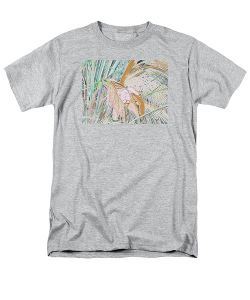 Men's T-Shirt  (Regular Fit) featuring the painting Palm Flowers by Hilda and Jose Garrancho