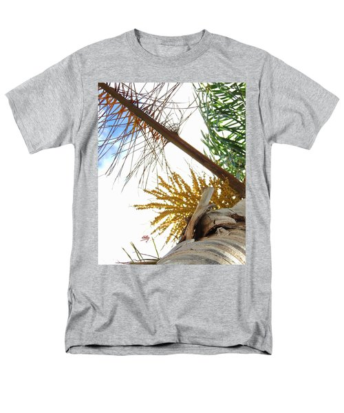 Men's T-Shirt  (Regular Fit) featuring the photograph Palm Sky View by Linda Hollis