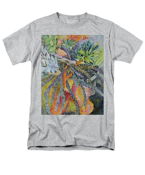 Palm Springs Cacti Garden Men's T-Shirt  (Regular Fit) by Joanne Smoley