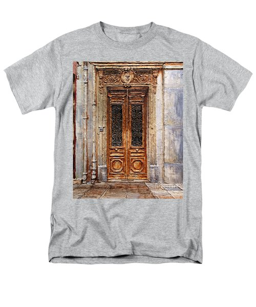 Men's T-Shirt  (Regular Fit) featuring the painting Parisian Door No.7 by Joey Agbayani