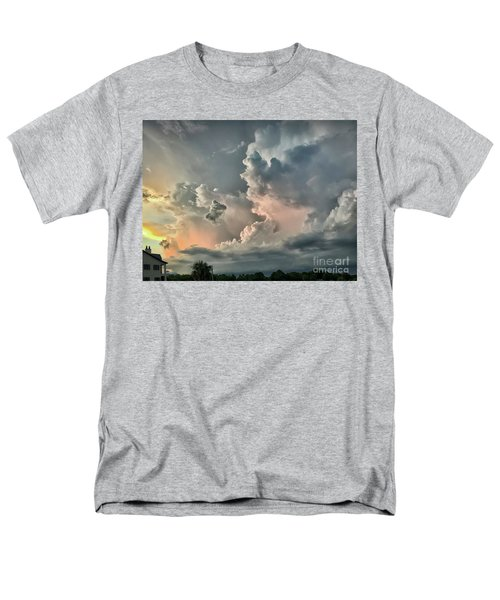 Pastel Clouds Men's T-Shirt  (Regular Fit) by Walt Foegelle