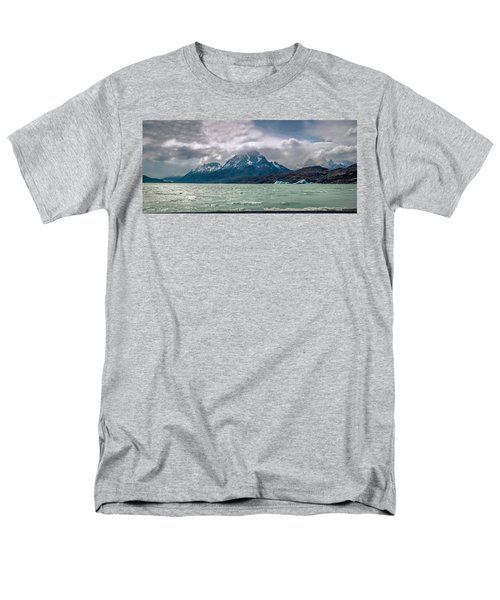 Men's T-Shirt  (Regular Fit) featuring the photograph Patagonia Lake by Andrew Matwijec