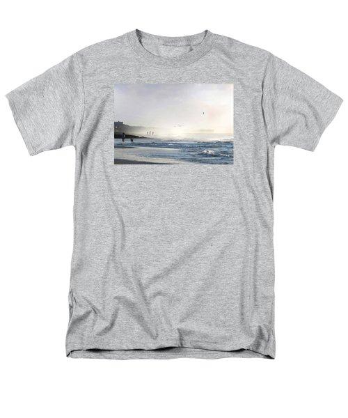 Men's T-Shirt  (Regular Fit) featuring the digital art Pawleys Island Morning Mist by Deborah Smith