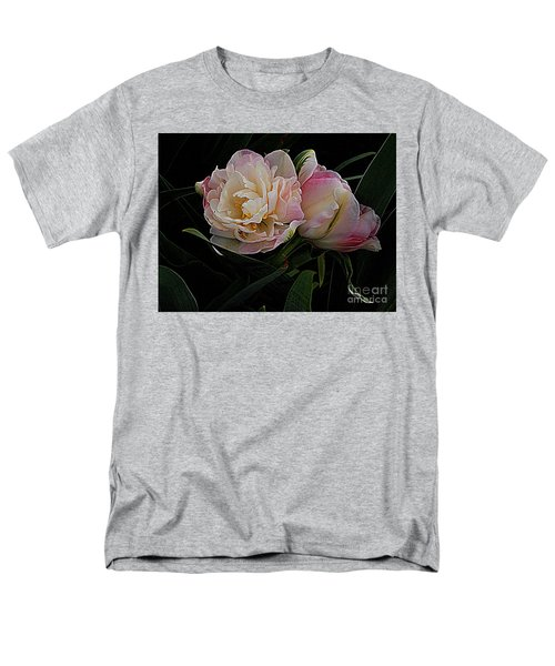 Men's T-Shirt  (Regular Fit) featuring the photograph Pe0ny Tulip Duet 2 by Nancy Kane Chapman