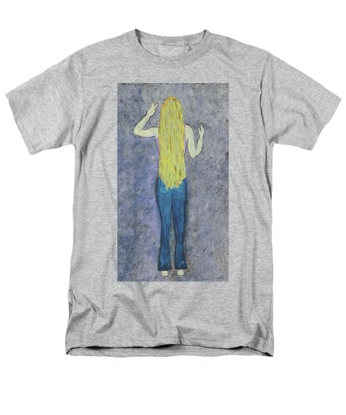 Men's T-Shirt  (Regular Fit) featuring the mixed media Peace by Desiree Paquette