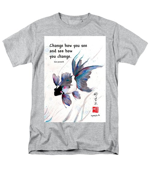 Peace In Change With Zen Proverb Men's T-Shirt  (Regular Fit) by Bill Searle