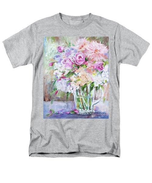 Peach And Pink Bouquet Men's T-Shirt  (Regular Fit)
