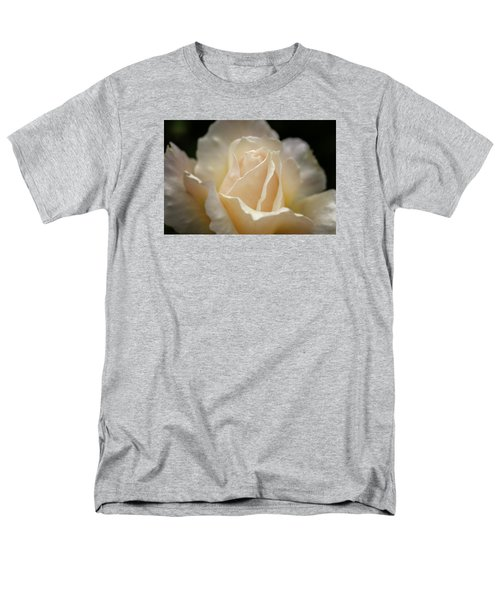 Peach Rose Men's T-Shirt  (Regular Fit) by Mary Angelini
