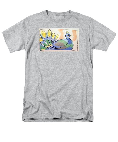 Peacock Men's T-Shirt  (Regular Fit) by Loretta Nash