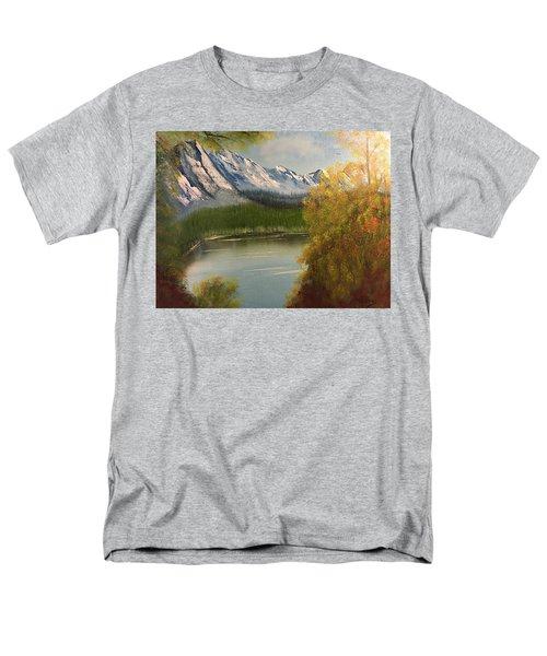 Peek-a-boo Mountain Men's T-Shirt  (Regular Fit) by Thomas Janos