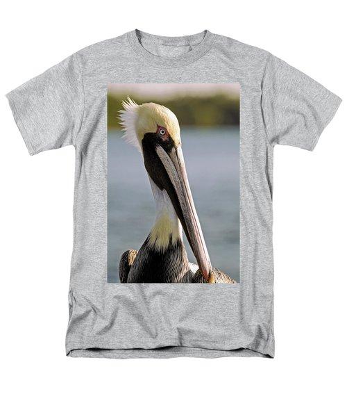 Pelican Portrait Men's T-Shirt  (Regular Fit) by Sally Weigand