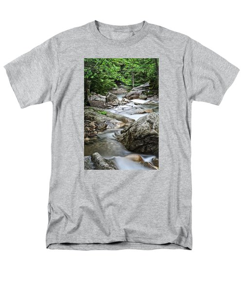 Pemigewasset River Nh Men's T-Shirt  (Regular Fit) by Michael Hubley