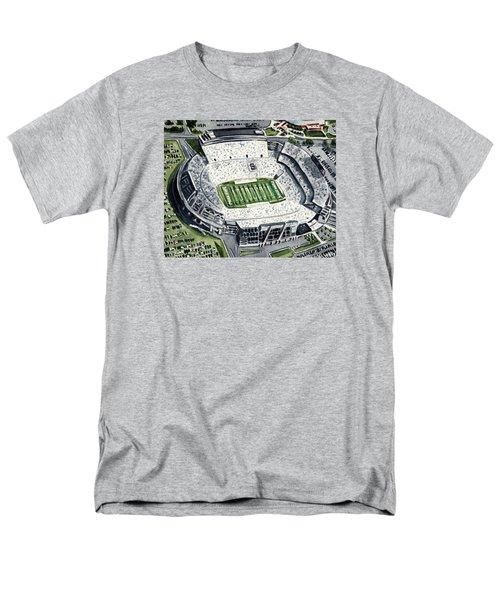 Penn State Beaver Stadium Whiteout Game University Psu Nittany Lions Joe Paterno Men's T-Shirt  (Regular Fit) by Laura Row
