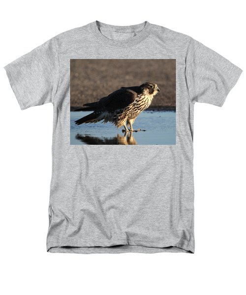 Peregrine Falcon Shirley New York Men's T-Shirt  (Regular Fit) by Bob Savage