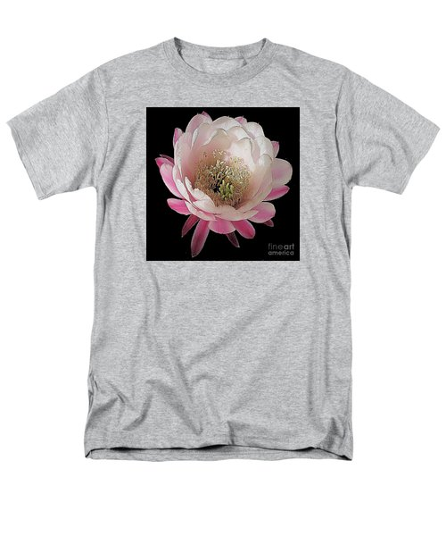 Perfect Pink And White Cactus Flower Men's T-Shirt  (Regular Fit) by Merton Allen