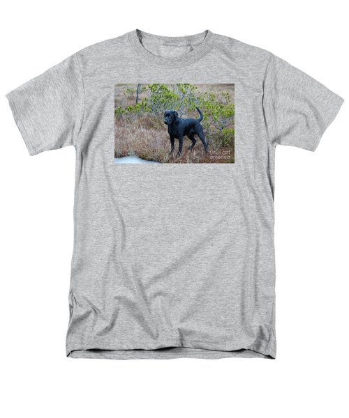 Men's T-Shirt  (Regular Fit) featuring the photograph Pet Portrait - Radar by Laura  Wong-Rose