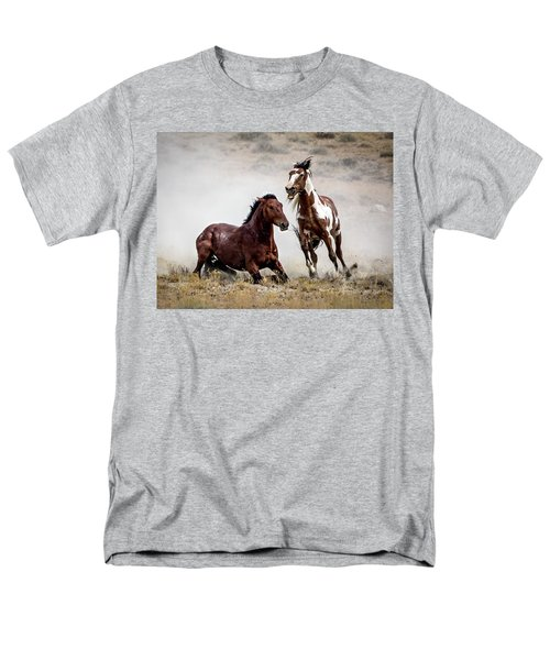 Picasso - Wild Stallion Battle Men's T-Shirt  (Regular Fit) by Nadja Rider