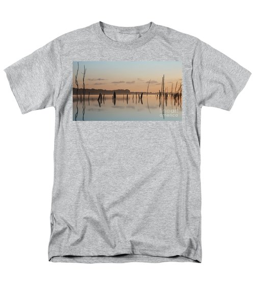 Pink And Blue Skies Men's T-Shirt  (Regular Fit) by Debra Fedchin