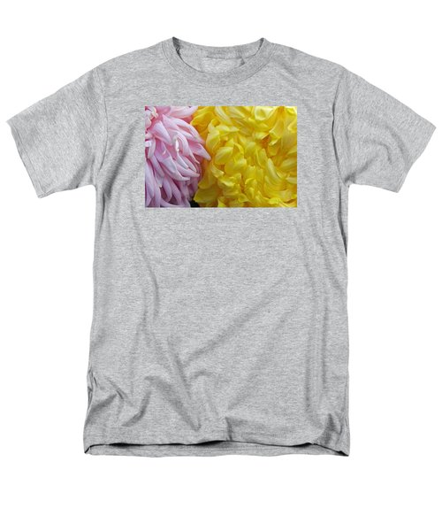 Pink And Yellow Mums Men's T-Shirt  (Regular Fit) by Jim Gillen