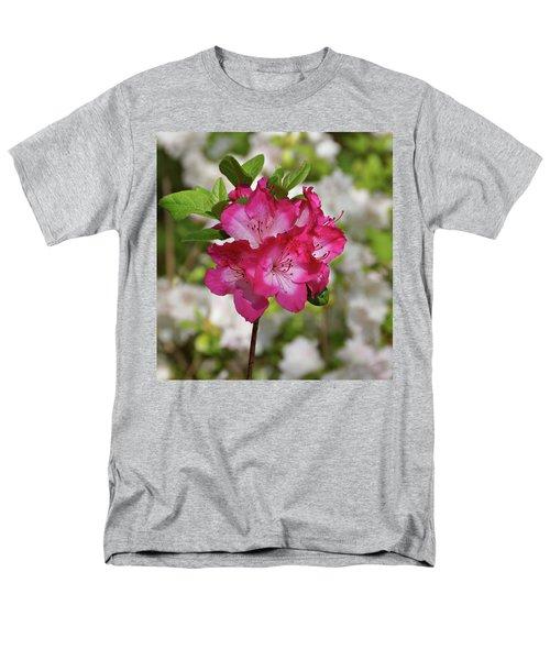 Men's T-Shirt  (Regular Fit) featuring the photograph Pink Azalea by Sandy Keeton
