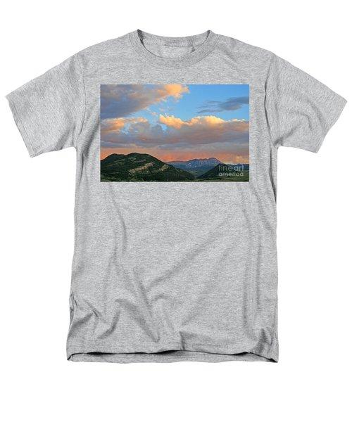 Pink Rain Over The Sleeping Indian Men's T-Shirt  (Regular Fit) by Paula Guttilla