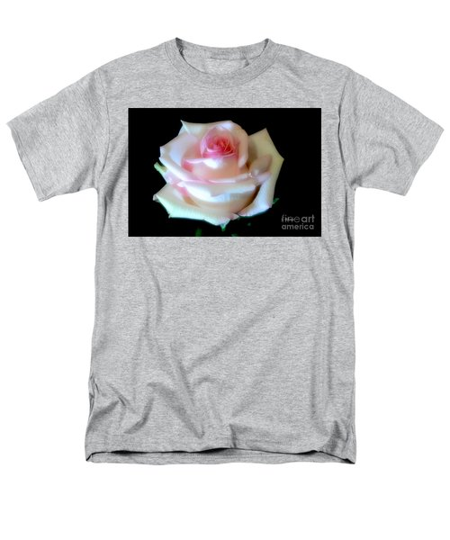 Pink Rose Bud Men's T-Shirt  (Regular Fit) by Jeannie Rhode