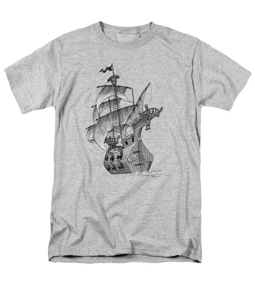 Pirate Ship Men's T-Shirt  (Regular Fit) by Andy Catling