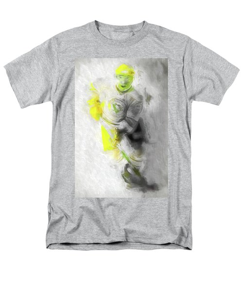 Men's T-Shirt  (Regular Fit) featuring the photograph Pittsburgh Penguins Nhl Sidney Crosby Painting Fantasy by David Haskett