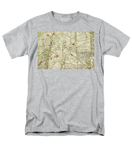 Men's T-Shirt  (Regular Fit) featuring the photograph Plan Of Central London by Patricia Hofmeester