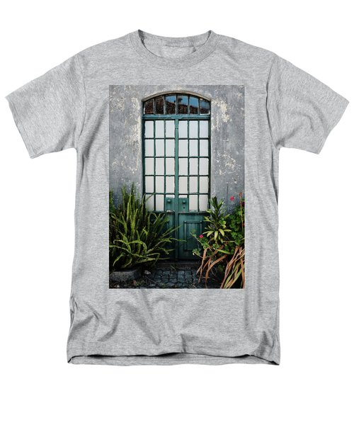 Men's T-Shirt  (Regular Fit) featuring the photograph Plants In The Doorway by Marco Oliveira