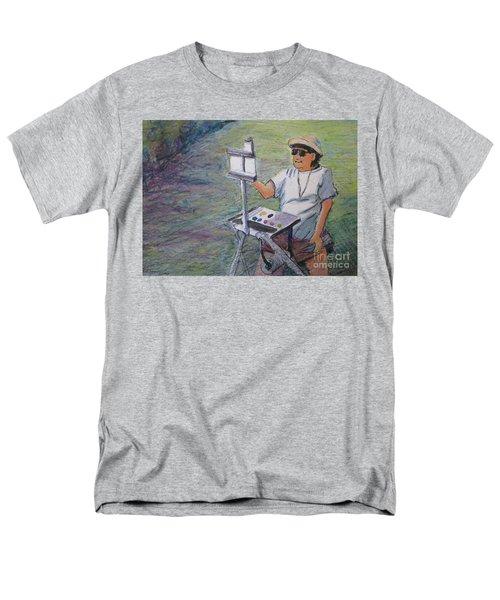 Men's T-Shirt  (Regular Fit) featuring the painting Plein-air Painter Bj by Gretchen Allen